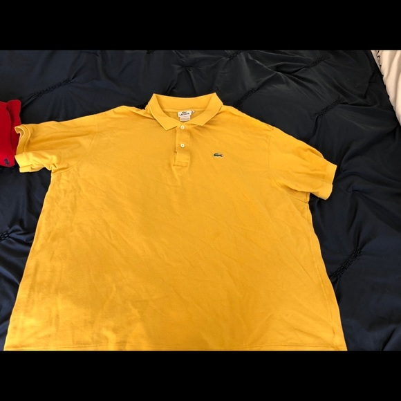 af4a11e21c 10R yellow Lacoste men's shirt